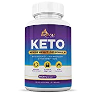 Keto Pills from Shark Tank - Burn Fat Fast & Lose Unwanted Pounds - Weight Loss Supplements for Women & Men - Appetite Suppressant - Ketogenic Formula with BHB - 60 Capsules
