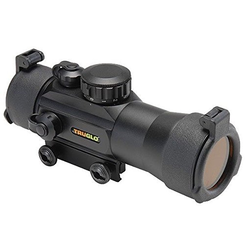 Truglo Red-Dot 2x42mm 2-Power Magnification 2.5 MOA Reticle Red Dot, Black - TG8030B2