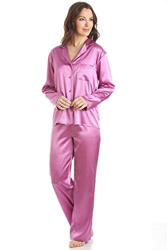 Camille - Conjunto de pijama satinado - Rosa: Amazon.es: Ropa y accesorios