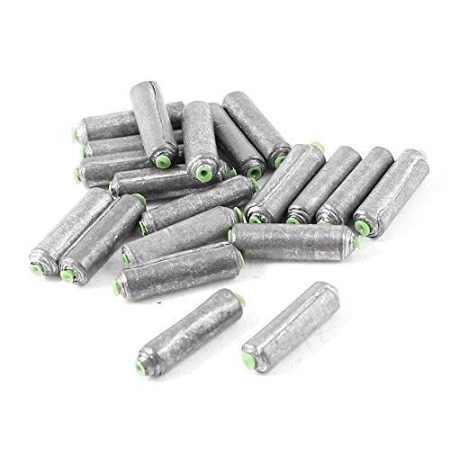 20 Pcs cylindre fendu Lead Shots poisson Sinkers 19mm x 5mm 3g par pièce
