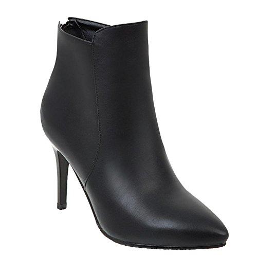 MD Mee chics à femmes hauts Shoes Zip pour Bottes talons 4xwTaxqH