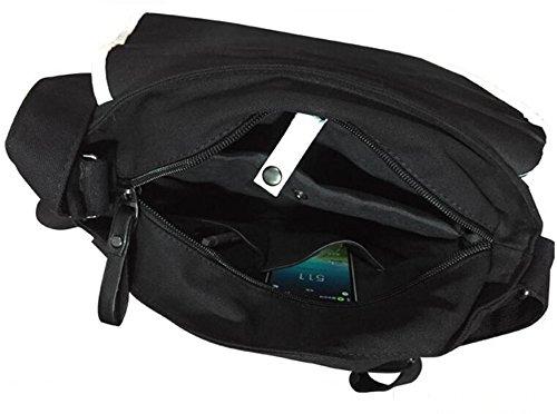 JUSTGOGO Casual Messenger Bag Crossbody Bag Shoulder Bag Travel Bag Handbag Tote Bag (1) by JUSTGOGO (Image #4)