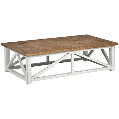 (Stone & Beam Coastal Breeze Rustic Farmhouse Coffee Table, 55.1