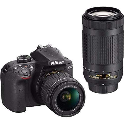 Nikon D3400 DSLR Camera + 18-55mm & 70-300mm Lenses + Nikon Case + 64GB Card + Digital Slave Flash + Kit
