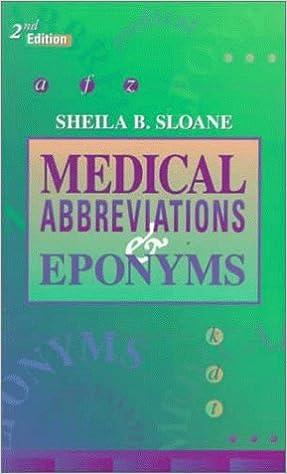 Medical Abbreviations And Eponyms 2e Medical Abbreviations