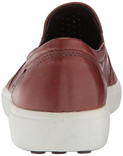 ECCO Men's Soft 7 Slip on Sneaker Mahogany Retro Perforated JPZctb