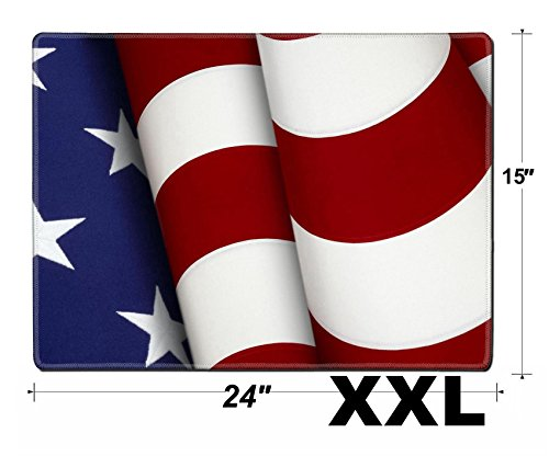 Extreme Xxl Bars - MSD Extra Large Mouse Pad XXL Extended Non-Slip Rubber Large Gaming Desk Mat Extreme close up of stars and stripes from the American flag Image 6832156 Customized T
