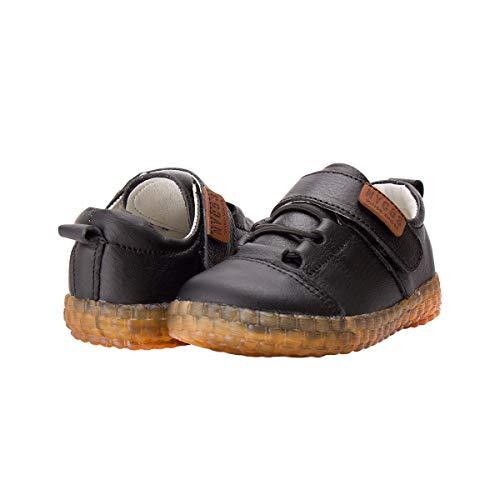 (Baby Toddler Boy Soft Soles Leather Oxford,Infant Black Steps Walking Dress Shoe)