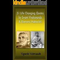 51 Life Changing Quotes By Swami Vivekananda And Ramana Maharishi (Bonus Quotes By J Krishnamurthi). (English Edition)