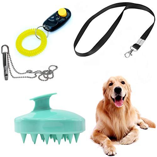 - Aibeixin Dog Clicker for Training Dog Cat Training Whistle Set & Dog Cat Grooming Massage Brush Combo for Dogs Cats Training Pets Grooming Massage