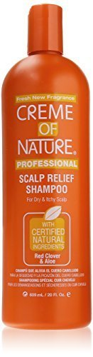 - Creme of Nature Soothing ShampooÃ' for Dry Hair and Flaky Scalp, Red Clover and Aloe, 20 Ounce by Creme of Nature