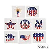 72 USA Patriotic TATTOOS /4TH of JULY - Birthday Party/TEACHER/Classroom Giveaways/Doctor/Dentist/DAYCARE/Favors 6 DOZEN