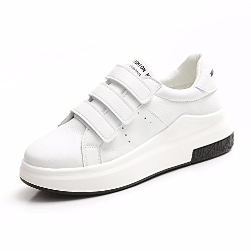 xiao123 Spring Velcro Plataforma Mujer Zapatillas Blancas Moda Simple Estilo Harajuku Pequeños Trabajos Frescos Estudiante Roma Cómodo: Amazon.es: Zapatos y ...