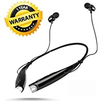 CROGIE Sports Wireless Bluetooth Headphones with Mic, Extra Bass & Noise Reduction, Hands-Free Calling Compatible with All Android, iOS & Windows Device