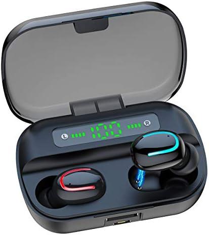 [해외]CUIZI 무선 이어버드 블루투스 헤드폰 5.0 HD 스테레오 사운드 무선 헤드셋 IPX7 방수 헤드폰 내장 마이크 노이즈 캔슬링 긴 재생시간 충전 케이스 포함 / CUIZI 무선 이어버드 블루투스 헤드폰 5.0 HD 스테레오 사운드 무선 헤드셋 IPX7 방수 헤드...