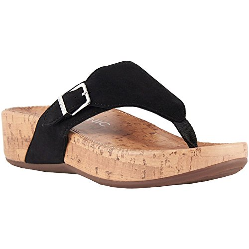 Vionic Suede Womens Marbella Sandals Black Pacific qR4qwrP