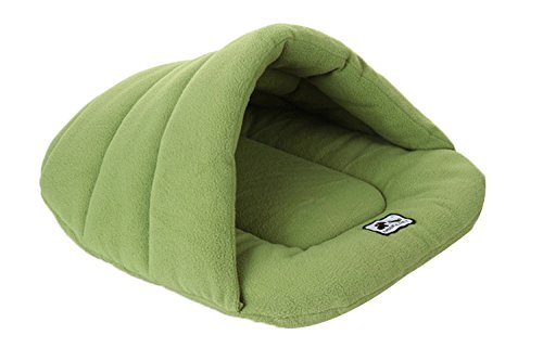 Spring Fever Washable Soft Comfort Warm Colorful Pet Bed Dog Puppy Cat House Green M (18.9x22.8 inch)