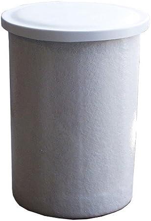 DEPOSITO DE AGUA de POLIESTER fibra de vidrio 1000 LITROS cilíndrico. Incluye tapadera. Diámetro Ø 114 cm Altura 127 cm. Capacidad exacta 1000 litros