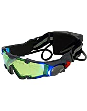 ALLOMN Spy Night Vision Goggles with Flip-Out, Adjustable Kids LED Night Green Lens Glasses for Hunting Racing Bicycling