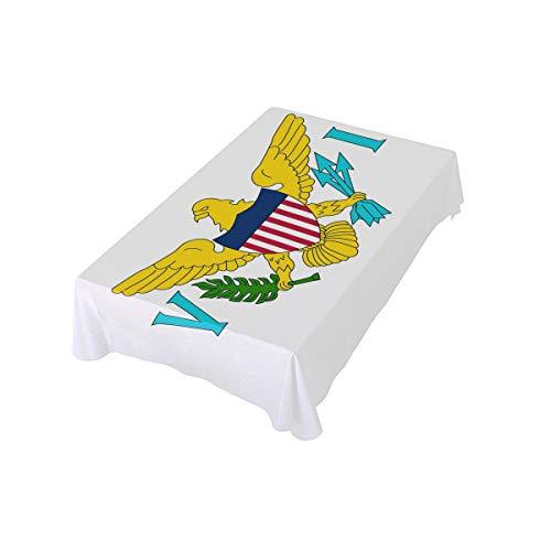 Islands Indoor Flag - Abbylife U.S. Virgin Islands Flag Print Dinner Tablecloth Polyester Indoor Outdoor Oblong Kitchen Table Cloth 60