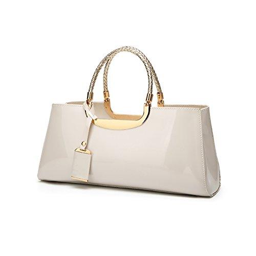 handbag atmosphere Messenger patent fashion Milky ladies bag leather ladies wild 2017 Tisdaini casual wallet glossy shoulder zwOEqW4S