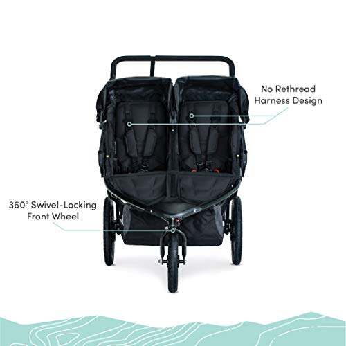41E8QTDJnLL - BOB Gear Revolution Flex 3.0 Duallie Double Jogging Stroller | Smooth Ride Suspension + Easy Fold + Adjustable Handlebar, Graphite Black [New Logo]