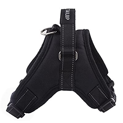 Aidle Pet Outdoor Front Range No-Pull Saddle Vest Harness Adjustable Easy Control for Small Medium Large Dogs, Black
