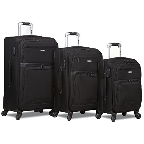 Rolite Explorer 3-Piece Expandable Spinner Luggage Set, Black by Rolite