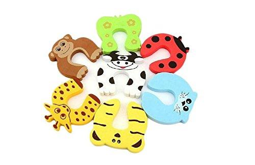 GroovyApple® 7 PCS Cushion Children Safety Finger Pinch Cartoon Animal Foam Door Stopper by GroovyApple (Image #2)