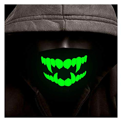 Proboths Luminous Mouth Mask, Unisex Moisture Wicking Flexible Face Mask Anti Dust for Halloween, Chritmas, Birthday Gift K19]()