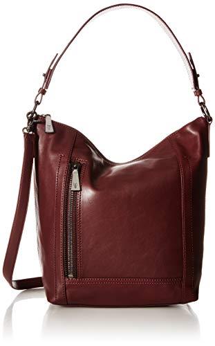 FRYE Lena Zip Leather Hobo Shoulder Bag, wine (Zip Hobo Leather)