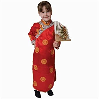 Amazon.com: Pretend Deluxe Chinese Geisha Girl Toddler Costume Dress-Up Set  Size 4T: Clothing