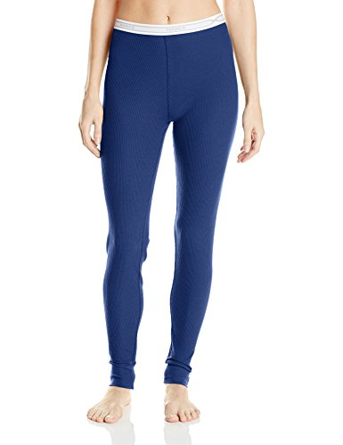 Hanes Women's X-Temp Thermal Pant, Blue Depths, Small