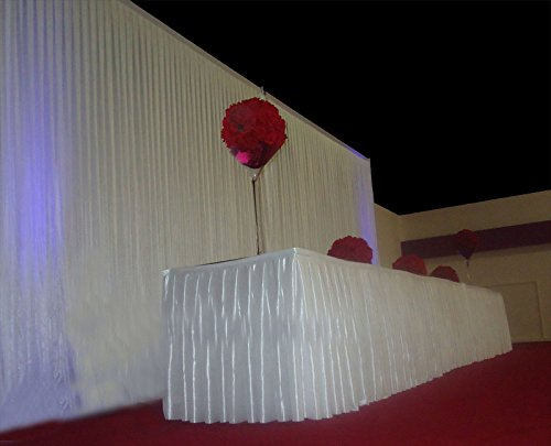 6Mx3M White Pleated Decoration Wedding Backdrop Curtain For Celebration Hotel