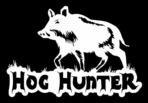 Price comparison product image Hog Hunter Hunting Vinyl Decal Sticker|Cars Trucks Vans Walls Laptops|WHITE|7 In|KCD579