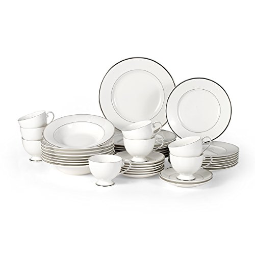 Amazon.com | Mikasa Cameo Platinum 40-Piece Dinnerware Set Service for 8 Dinnerware Sets  sc 1 st  Amazon.com : mikasa dinnerware canada - pezcame.com
