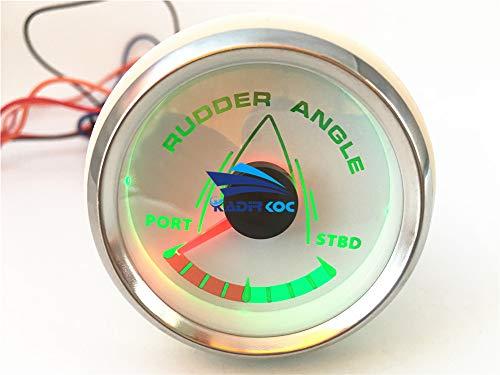 Kadir Koc 1pc 52mm Pointer Rudder Angle Gauges White Waterproof Rudder Angle Meters 9-32v for Boat Yacht Vessel by Kadir Koc (Image #3)