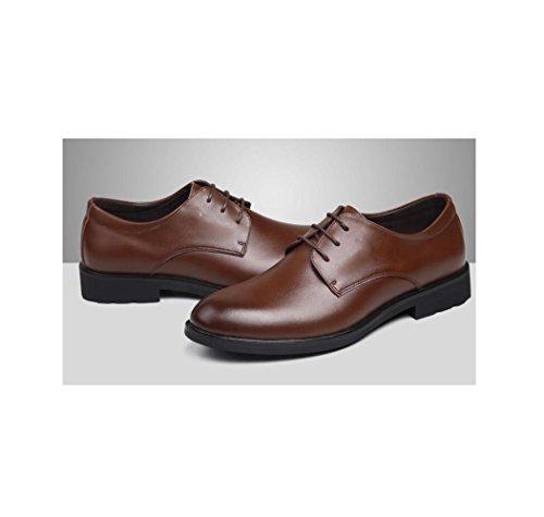 Coton Chaussures Ceinture Pointy Boucle Fond Porter Porter Souple Hommes Brown Jeunesse Rond Vêtements Lerther Plat De Cérémonie 71vwfq