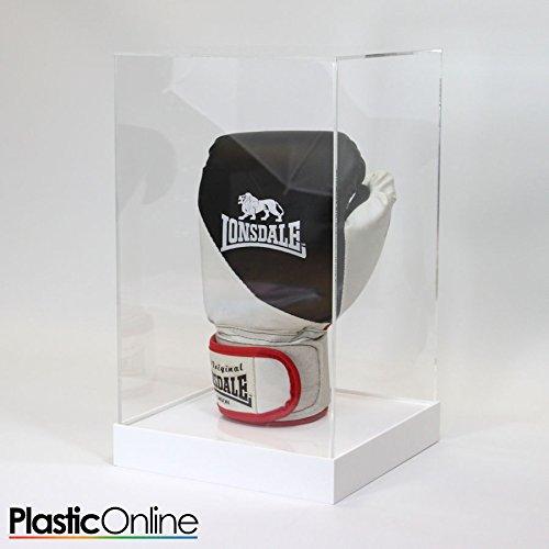 Plastic Online Ltd Boxing Glove Display Case - White Base