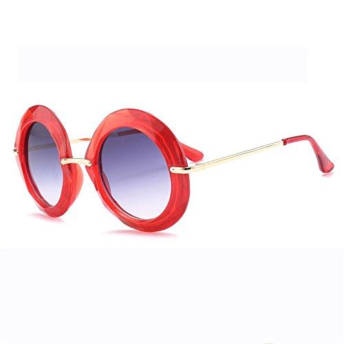 Grande Euramerican Marco Gafas Redondas De Sol De De De Black Gafas Tendencia Red Sol np4XqP