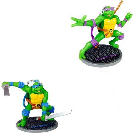TMNT Teenage Mutant Ninja Turtles Figurines (Leonardo Donatello)