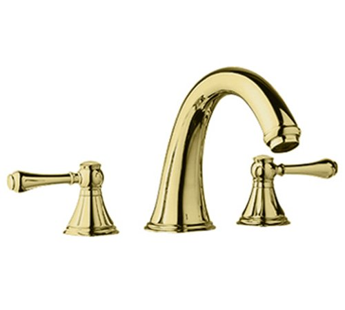 Brass Geneva Tub - Grohe 25 054 R00 Geneva 3-Hole Roman Tub Filler, Infinity Polished Brass