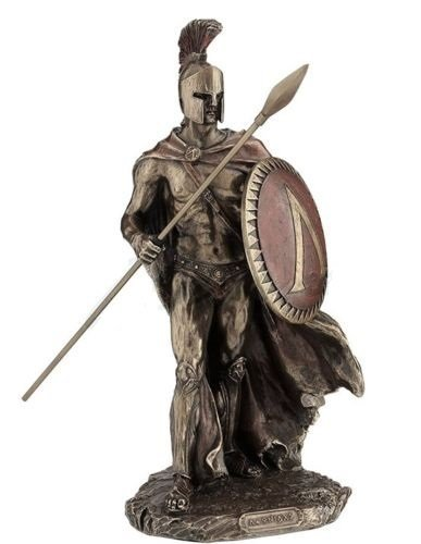 11 Leonidas w Spear Spartan King Statue Sculpture Figure Roman Figurine