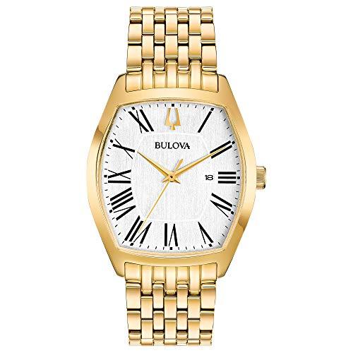 - Bulova Gold Tone Quartz Movement Dress Watch (Model: 97M116)