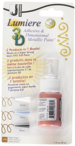 Jacquard JDP0210 Lumiere Washable 3D Adhesive and Dimensional Paint, 1 oz. Bottle, 1.5