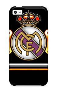 Anne C. Flores's Shop New Style 7645057K70874213 Tpu Case Cover For Iphone 5c Strong Protect Case - Real Madrid Fc Logo Design