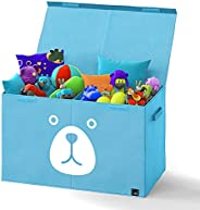 Pink and Blue Bear Face and TOYS Toy Bin