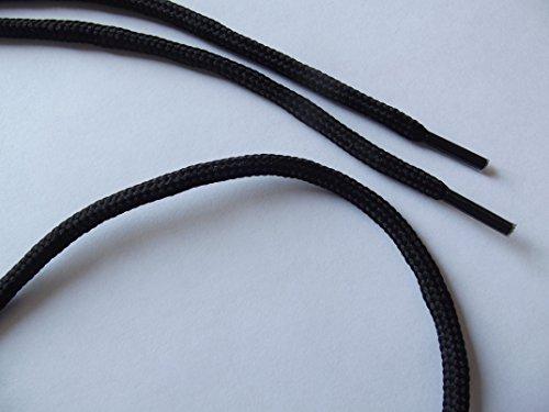 Schwarze Schnürsenkel extra stark - ca 90 cm lang - 10 Paar im Vorratspack