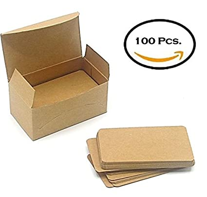 blank kraft paper mini cards 100 pcs in a box message card business card - Kraft Paper Business Cards