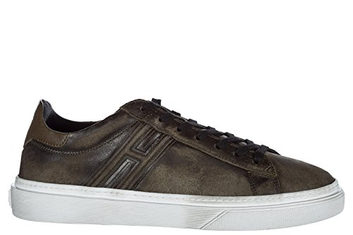 Hogan Herresko Herre Lædersko Sneakers Brune H340 KqrsNNp